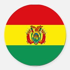 Bolivia flag Round Car Magnet