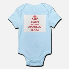 Keep calm we live in Amarillo Texas Body Suit