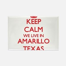 Keep calm we live in Amarillo Texas Magnets