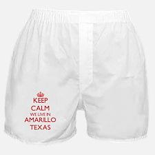 Keep calm we live in Amarillo Texas Boxer Shorts
