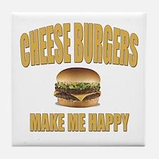 Cheeseburgers-Design 1 Tile Coaster