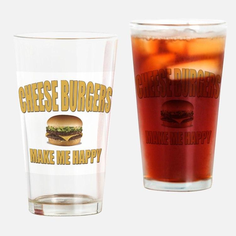 Cheeseburgers-Design 1 Drinking Glass