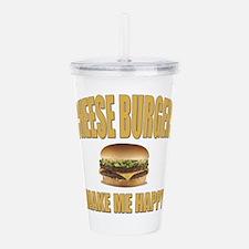 Cheeseburgers-Design 1 Acrylic Double-wall Tumbler