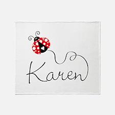 Ladybug Karen Throw Blanket