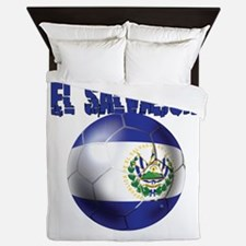 Futbol de El Salvador Queen Duvet
