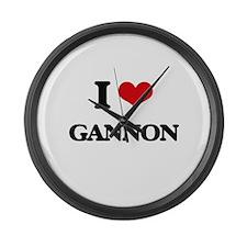I Love Gannon Large Wall Clock
