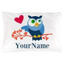 Bue Owl (p) Pillow Case