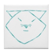 Cloudy Anime Cat Tile Coaster