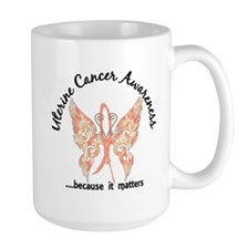 Uterine Cancer Butterfly 6.1 Mug