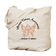 Uterine Cancer Butterfly 6.1 Tote Bag