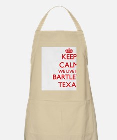Keep calm we live in Bartlett Texas Apron