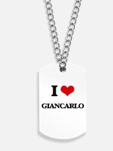 I Love Giancarlo Dog Tags