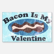 vintage Bacon is my valentine Decal