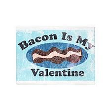 vintage Bacon is my valentine 5'x7'Area Rug