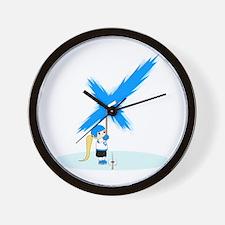 Cute Finland hockey Wall Clock
