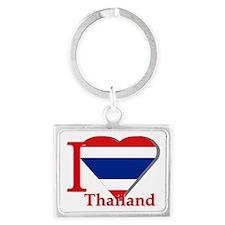 I love Thailand Landscape Keychain