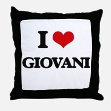 I Love Giovani Throw Pillow