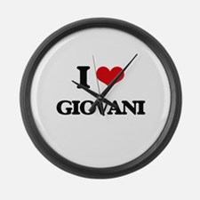 I Love Giovani Large Wall Clock