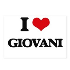 I Love Giovani Postcards (Package of 8)