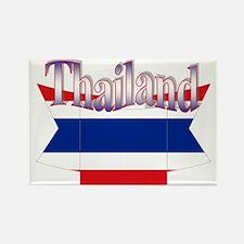 Thai ribbon flag Rectangle Magnet