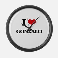 I Love Gonzalo Large Wall Clock