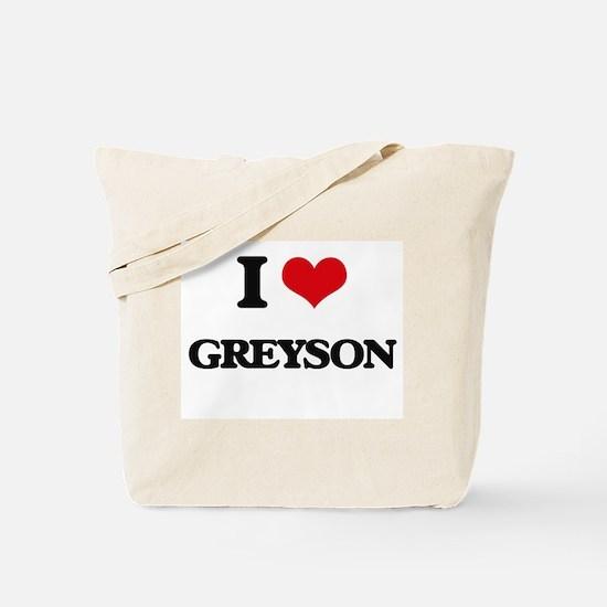 I Love Greyson Tote Bag