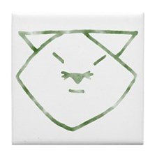 Country Anime Cat Tile Coaster