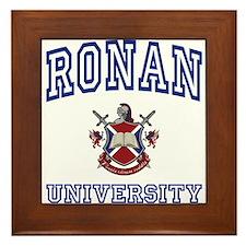 RONAN University Framed Tile