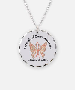 Endometrial Cancer Butterfly Necklace