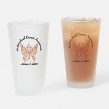Endometrial Cancer Butterfly 6.1 Drinking Glass