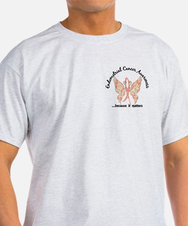 Endometrial Cancer Butterfly 6.1 T-Shirt
