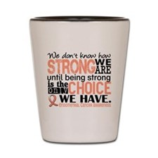 Endometrial Cancer HowStrongWeAre Shot Glass