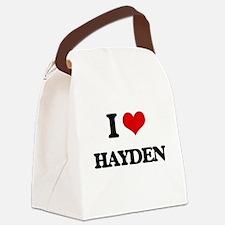 I Love Hayden Canvas Lunch Bag