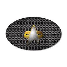 Grunge Starfleet Comm Badge Wall Decal