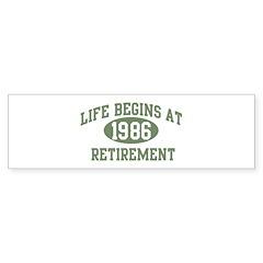 Life begins 1986 Bumper Bumper Sticker