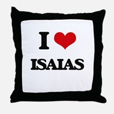 I Love Isaias Throw Pillow