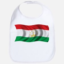 Wavy Tajikistan Flag Bib
