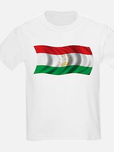 Wavy Tajikistan Flag T-Shirt