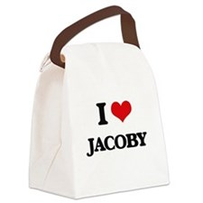 I Love Jacoby Canvas Lunch Bag
