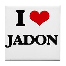 I Love Jadon Tile Coaster
