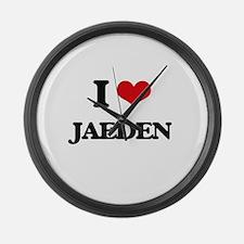 I Love Jaeden Large Wall Clock