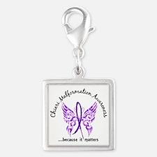 Chiari Butterfly 6.1 Silver Square Charm