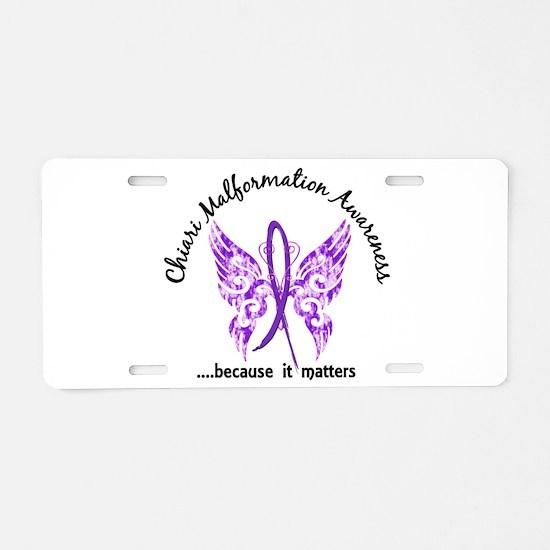 Chiari Butterfly 6.1 Aluminum License Plate