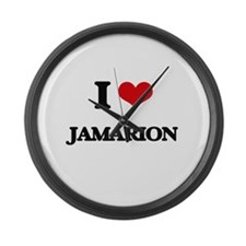 I Love Jamarion Large Wall Clock