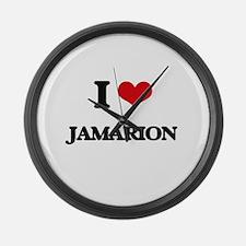I Love Jamarion Large Wall Clock