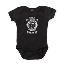 Rottweilers will always love you Baby Bodysuit