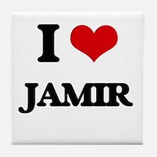 I Love Jamir Tile Coaster