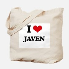 I Love Javen Tote Bag