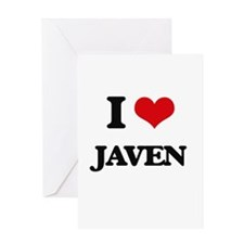 I Love Javen Greeting Cards