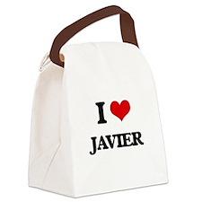 I Love Javier Canvas Lunch Bag